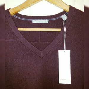 Vince 100% Cashmere V-neck Sweater Men's 2XL $320